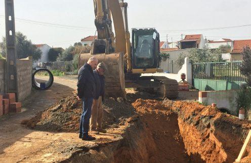 Coletor de águas pluviais de Figueira dos Cavaleiros já está em construção