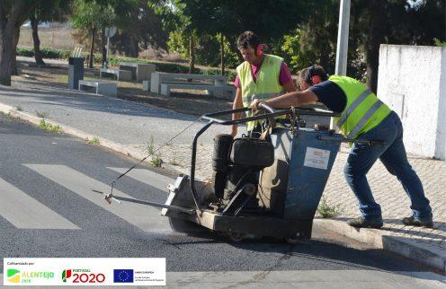 (Português) Remodelação das passadeiras para peões em Ferreira do Alentejo