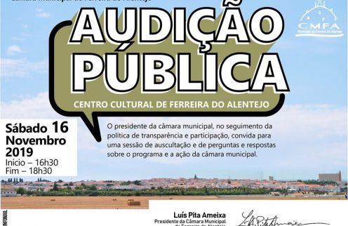 Convite: Audição Pública