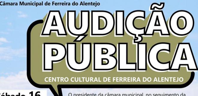 (Português) Convite: Audição Pública