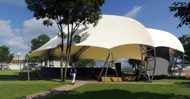 (Português) Anfiteatro do Jardim Público tem nova cobertura