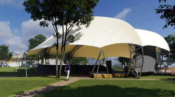 (Português) Anfiteatro do Jardim Público vai ter nova cobertura