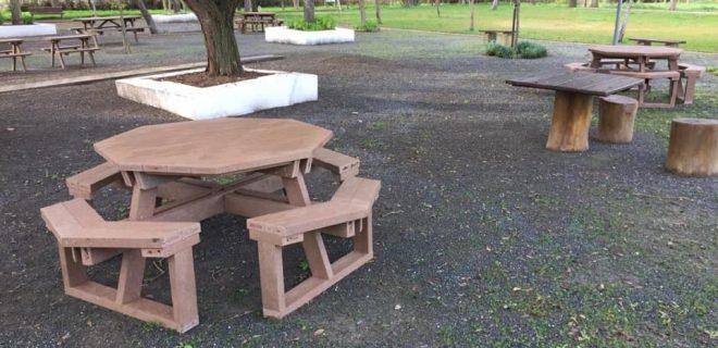(Português) Novas mesas de merendas no Parque de Lazer da Fonte Nova