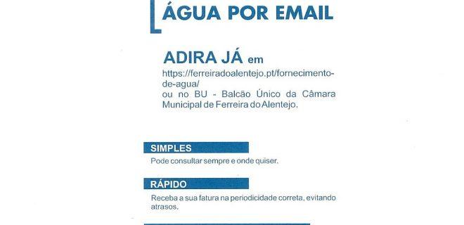 (Português) Receba a sua fatura da água por e-mail