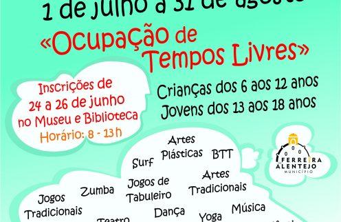 Ferias de Verão: Ocupação de tempos livre para as crianças e jovens do concelho