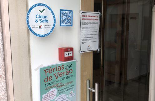 Museu com selo CLEAN & SAFE